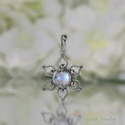 Moonstone Pendant - Floral Essence