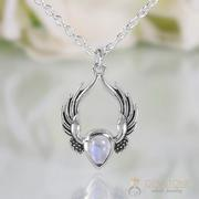Moonstone Necklace - Festival Feather