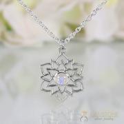 Moonstone Necklace - Exotic Lotus